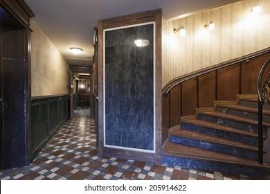 Corridor in Irish pub