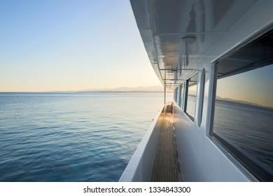 Corridor of luxury yacht