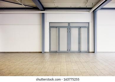 corridor at a modern factory