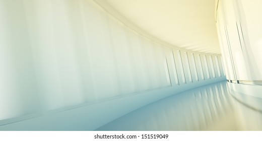 Corridor in office building, business concept, motion blur