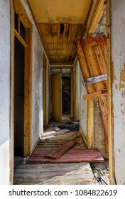 corridor in an old abandoned house