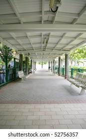 Corridor of a park