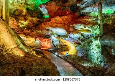 Corridor or passage  in Prometheus Cave, Georgia