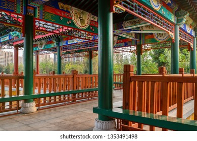 Corridor of the pavilion of Confucius Cultural City, Tunxi County, Guangdong Province