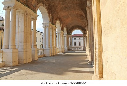corridor of the Porch of the Palladian Basilica the great public monument of the city of Vicenza in Italy built by Andrea Palladio