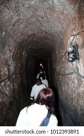 Corridor in the salt cave