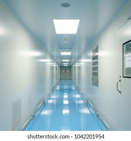 Corridors and door For Cleanroom manufacturing pharmaceutical plant, Epoxy flooring, Sandwich Panel