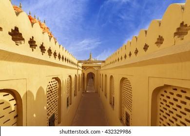 Corridors of Hawa Mahal Palace (Palace of Winds), Jaipur, Rajasthan, India