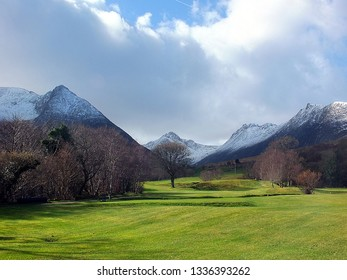 Corrie,Isle of Arran,Scotland,UK. 3/11/2019.  The second fairway at Corrie Golf Club on the Island of Arran, Scotland. It may be one of the most scenic courses in the UK!