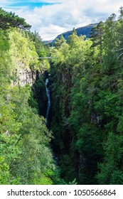 The Corrieshalloch Gorge and Falls of Measach, Scotland, Britain