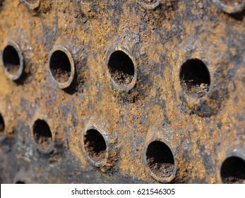 Corrosion product in the heat exchanger, corrosion scale in industrial, rusty tube