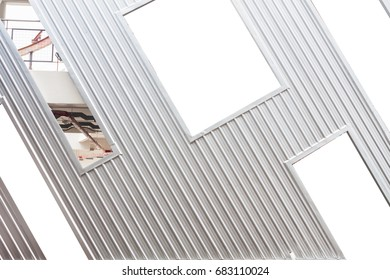 corrugated aluminum sheet design background