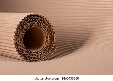 corrugated cardboard background for advertising and design