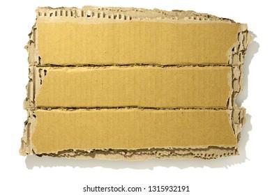corrugated cardboard isolated on white background.