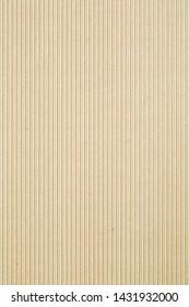 Corrugated cardboard, light brown background