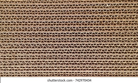 corrugated cardboard for packing. abstract background horizontal lines with wavy lines of beige color