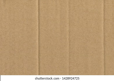 Corrugated Cardboard Texture. Abstract Brown Background