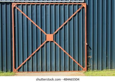 Corrugated door