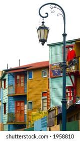 Corrugated homes in La Boca - Buenos Aires