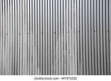Corrugated metal background and texture