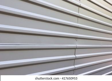 corrugated metal fence background
