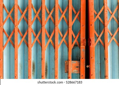 Corrugated metal sheet,Slide door ,Roller shutter texture.