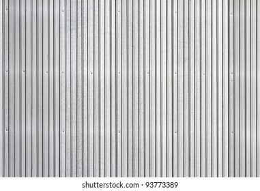 Corrugated metal texture surface