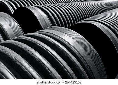 corrugated plastic pipe construction
