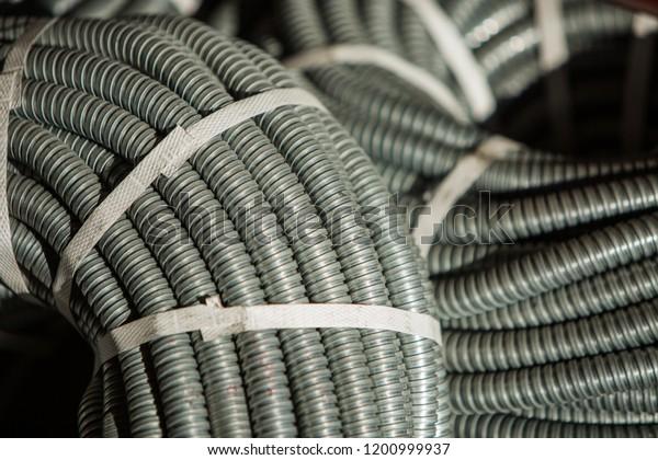 Corrugated Sleeves Installation Electrical Wiring Stock ... on suspension sleeve, hollywood sleeve, exhaust sleeve, concrete sleeve, conduit sleeve, blue sleeve, paint sleeve, battery sleeve,