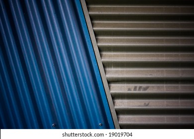 corrugated steel texture