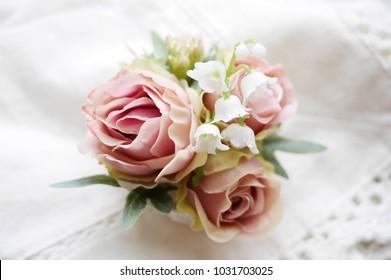 Corsage images stock photos vectors shutterstock corsage flower arrangement white back mightylinksfo