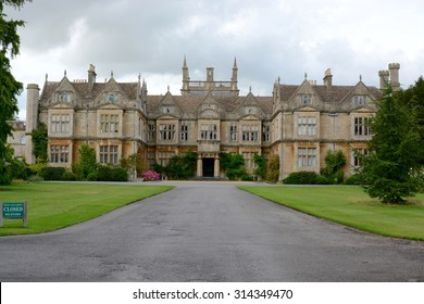CORSHAM, UK - AUGUST 3, 2015 : Corsham court, Elizabethan house of 1582 bought by Paul Methuen in the mid-18th century to house his major collection of art, Corsham, Cotswolds, UK