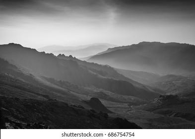 Corsica mountains.
