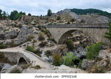 Corsica-bridges over the river Golo