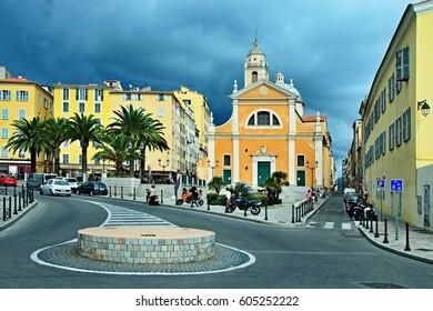 Corsica-church in the city Ajaccio