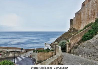 Corsica-fortification in town Bonifacio