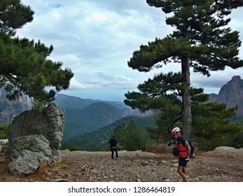 Corsica-outlook from pass Col de Bavella