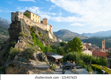 Corte, old capital of Corsica, and city of Pascal Paoli