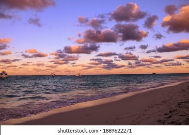 Cortecito Punta Cana Dominican Republic, Nature Landscape Sunset