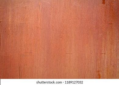 Corten rusted steel wall plate