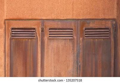 Corten steel doors close-up & Corten Steel Doors Closeup Stock Photo u0026 Image (Royalty-Free ...