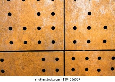 Perforated Corten Texture
