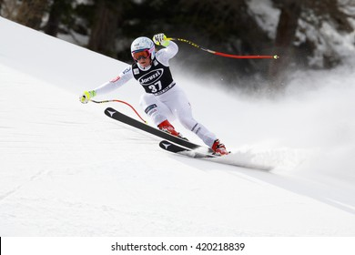 Cortina  Ampezzo, Italy 24 January 2016. MCKENNIS Alice (Usa) competing in the Audi Fis Alpine Skiing World Cup Women Super G on the Olympia Course in the dolomite mountain range.