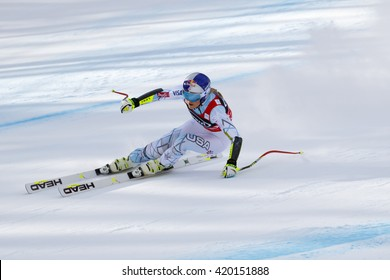 Cortina d ??Ampezzo, Italy 24 January 2016. VONN Lindsey (Usa) competing in the Audi Fis Alpine Skiing World Cup Women  Super G on the Olympia Course in the dolomite mountain range.