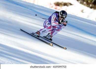 Cortina d'??Ampezzo, Italy 23 January 2016. GAUTHIER Tiffany (Fra) competing in the Audi Fis Alpine Skiing World Cup Women'??s downhill Race on the Olympia Course in the dolomite mountain range.