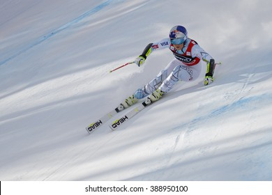 Cortina d'??Ampezzo, Italy 24 January 2016. VONN Lindsey (Usa) competing in the Audi Fis Alpine Skiing World Cup Women'??s Super G on the Olympia Course in the dolomite mountain range.