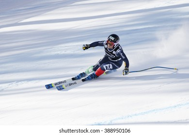 Cortina d'??Ampezzo, Italy 24 January 2016. FANCHINI Elena (Ita) competing in the Audi Fis Alpine Skiing World Cup Women'??s Super G on the Olympia Course in the dolomite mountain range.