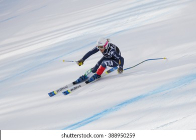Cortina d'??Ampezzo, Italy 24 January 2016. FANCHINI Nadia (Ita) competing in the Audi Fis Alpine Skiing World Cup Women'?s Super G on the Olympia Course in the dolomite mountain range.