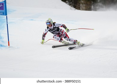Cortina d'??Ampezzo, Italy24 January2016. SIEBENHOFER Ramona (Aut) competing in the Audi Fis Alpine Skiing World Cup Women'??s Super G on the Olympia Course in the dolomite mountain range.