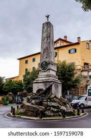 Cortona, Arezzo / Italy - 25 June 2015: Monument Giuseppe Garibaldi